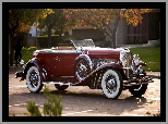 1929, Zabytkowy, Duesenberg Disappearing Top Torpedo Convertible Coupe